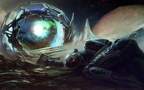 futuristic, astronaut