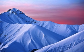 snow, landscape, mountains, ice, nature