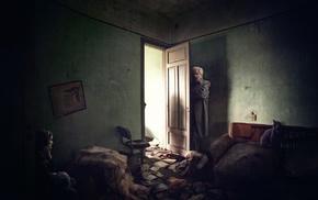 old people, artwork, horror