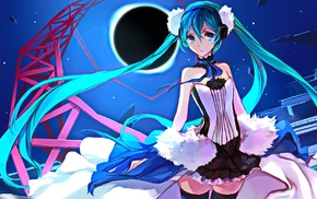anime girls, blue eyes, anime, Vocaloid, twintails, aqua hair