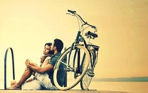 girl, men, hugging, emotion, couple, love