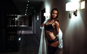 lingerie, girl, lamp, hotel, model