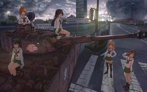 Isuzu Hana, Akiyama Yukari, tank, Girls und Panzer, anime, Reizei Mako