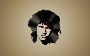 simple background, singer, legends, digital art, The Doors, face