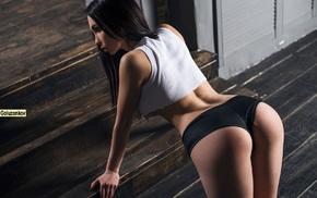 T, shirt, ass, ladders, Andrew Goluzenkov, girl