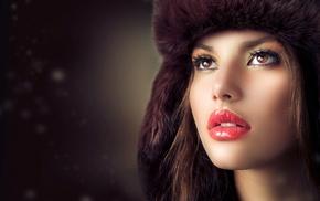 face, lips, eyes