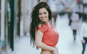 girl, smiling, model, Aurela Skandaj, portrait