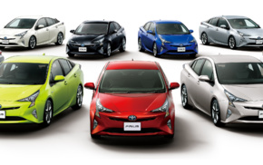 vehicle, multiple display, electric car, simple background, car, Toyota Prius