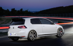 Volkswagen Golf GTI, vehicle, race tracks, long exposure, car