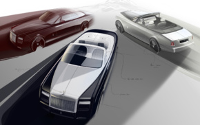 vehicle, car, concept art, Rolls, Royce Phantom