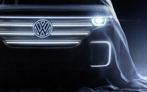 Volkswagen, electric car, lights, car, vehicle, concept cars