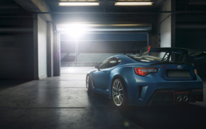 vehicle, concept cars, car, race tracks, Subaru BRZ STI