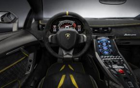 steering wheel, vehicle, Super Car, Lamborghini Centenario LP770, 4, car