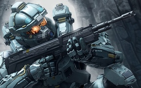 military, soldier, Halo 5 Guardians, weapon, video games, Halo 5