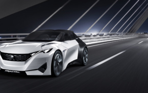 lights, motion blur, Peugeot Fractal, bridge, car, concept cars