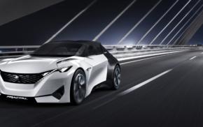 lights, motion blur, Peugeot Fractal, bridge, car, concept cars
