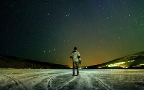 stars, depth of field, ice