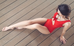 one, piece swimsuit, wooden surface, girl, 500px
