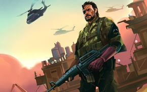 artwork, Big Boss, video games, Metal Gear Solid V The Phantom Pain, Metal Gear, Metal Gear Solid