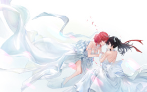 anime, Yazawa Nico, anime girls, Nishikino Maki, dress, wedding dress