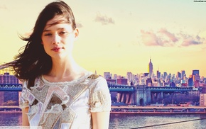 celebrity, girl, colorful, skyline, Astrid Berges, Frisbey