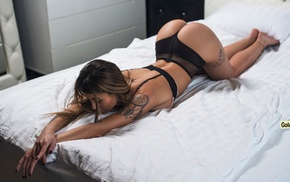 ass, model, tattoo, bent over, Andrew Goluzenkov, brunette