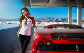 girl, Ferrari, Janice Kakish, vehicle, model, car