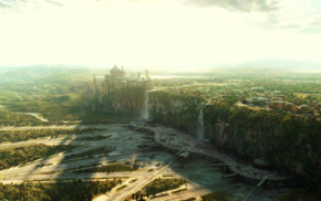 landscape, Naboo, cliff, sunlight, Star Wars