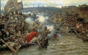 Russian Army, battle, Vasily Ivanovich Surikov, war, Siberia