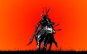 warrior, horse