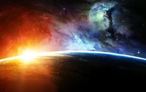 planet, artwork, universe, space