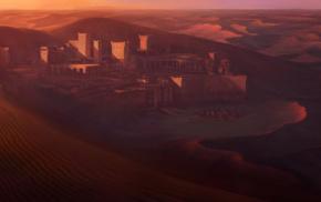 desert, city