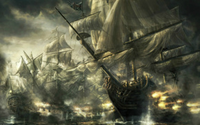 battle, sea, ship, war, boat