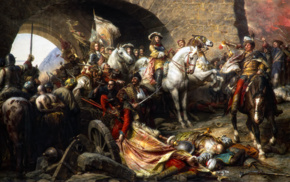 The Recapture of Buda Castle in 1686, painting, Benczr Gyula