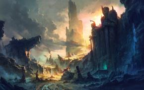 Warcraft, city, ruin