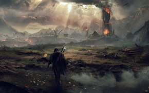 The Lord of the Rings, Middle, earth, fantasy art, video games, looking into the distance