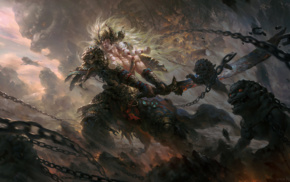 Fantasy Battle, warrior