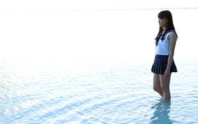 Asian, Morning Musume, skirt, water, Mizuki Fukumura