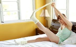 nightwear, Mizuki Fukumura, Asian, Morning Musume, girl, in bed