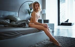 legs, feet, lingerie, blonde, white panties, girl