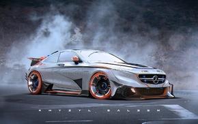 car, artwork, Khyzyl Saleem, Mercedes, Benz C63 AMG