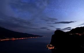 night, landscape