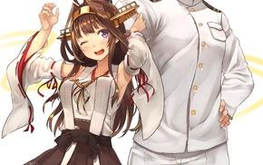 Admiral KanColle, anime girls, Kongou KanColle, uniform, anime, Kantai Collection