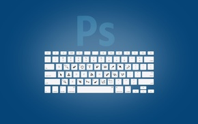 shortcuts, Photoshop, blue, keyboards, keys