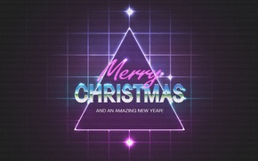 1980s, triangle, purple, Christmas