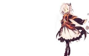 dress, white background, anime, original characters, lolita fashion