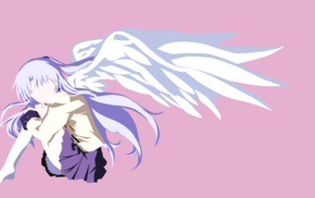 minimalism, Angel Beats, wings, Tachibana Kanade