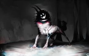 dog, smiling, horror