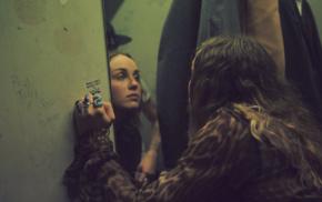 girl, musician, Zella day, face, mirror, reflection