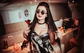 model, girl with glasses, girl, Asian